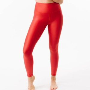 ZYIA Metallic Light & Tight RED Leggings sz 16/18